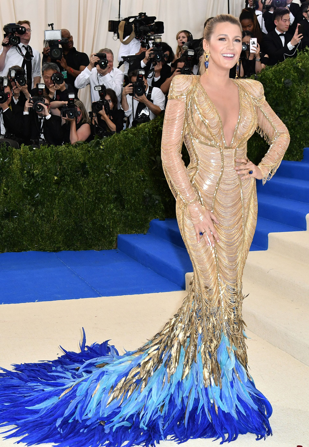 Blake Lively in a Custom-Made, Atelier Versace Gown | About Her