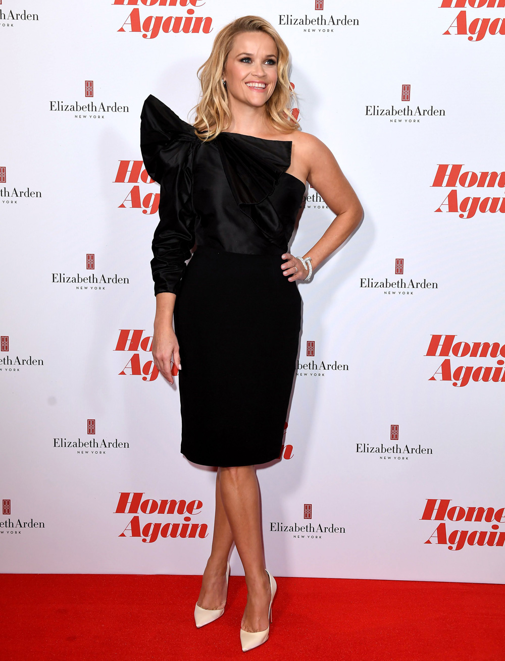 Reese Witherspoon Shines In Black At The Home Again Film Premiere