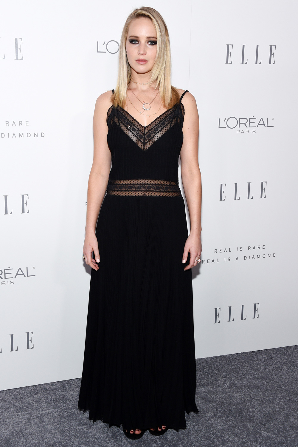 Jennifer Lawrence In Black Lace Dress By Dior About Her