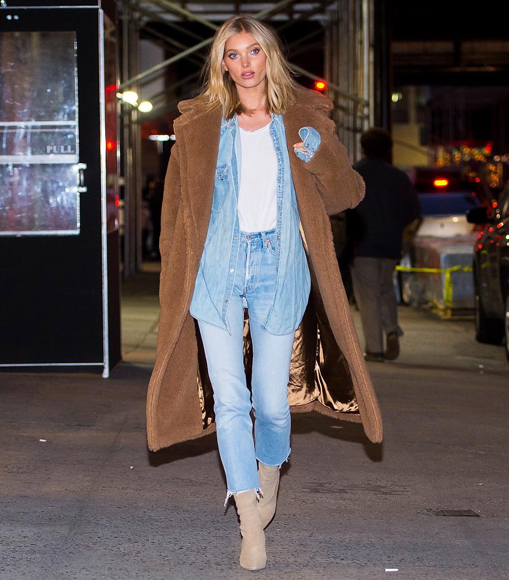 f2c3bacf70c Elsa Hosk Wearing a Max Mara Teddybear Coat in Chelsea