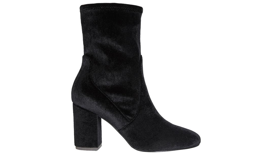 a4b5de7bc60 Monsoon black velvet  Valerie  sock boot with slight heel