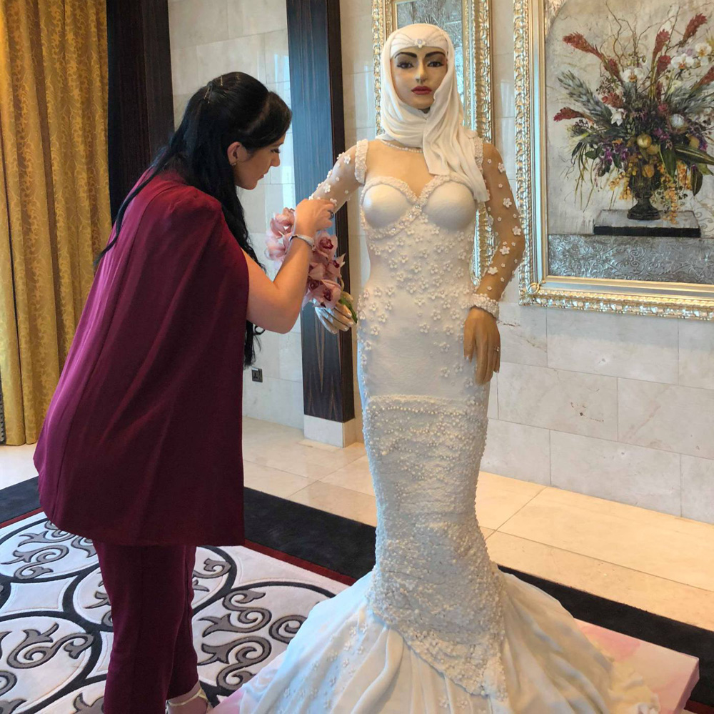 The Million Dollar Wedding Cake Shaped Like an Arab Bride | About Her