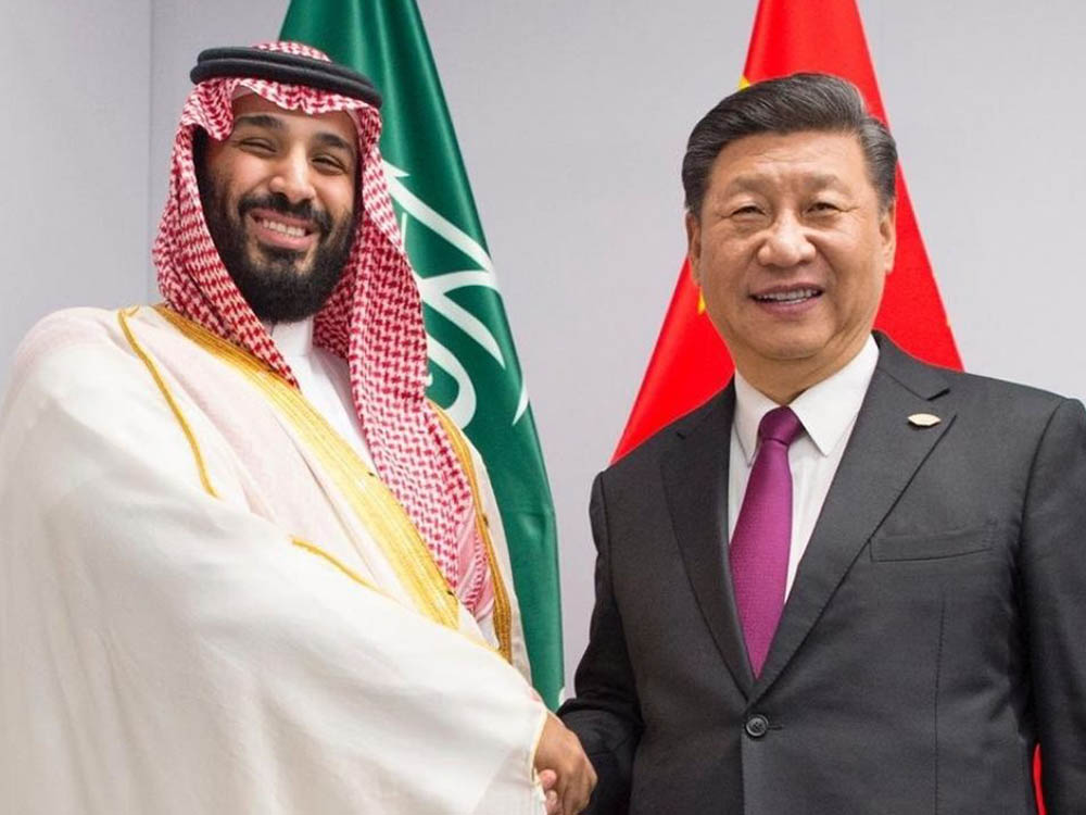 Crown Prince Mohammed bin Salman with Chinese President Xi Jinping in Beijing
