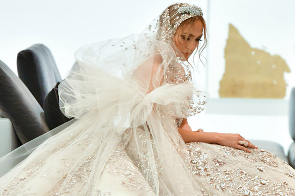 J Lo Stuns In A Wedding Dress By This Arab Designer About Her
