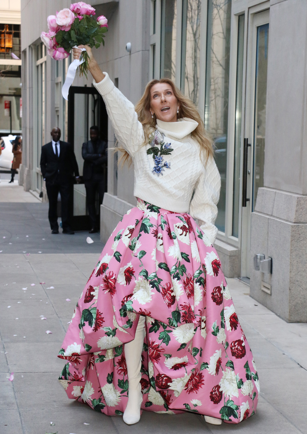Celine Dion Wows An Oscar De La Renta Outfit In New York City About Her