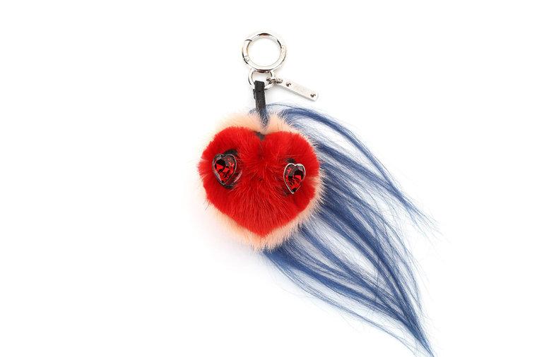 Fendi fur heart slides cheap amazon clearance best prices MXzhzW8