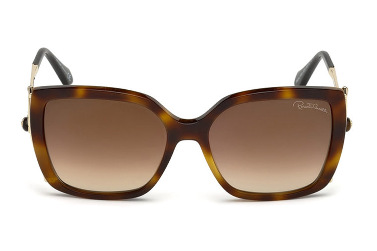 cf25c79d4c Roberto Cavalli rectangular shaped sunglasses with tinted lenses and  tortoiseshell frame