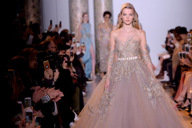 Paris Haute Couture Egyptian Inspired Flights Of Fancy At Elie Saab