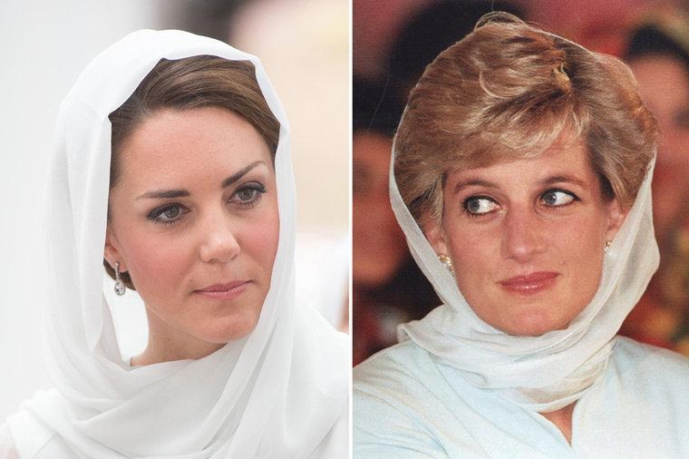 Kate Middleton dan Putri Diana.